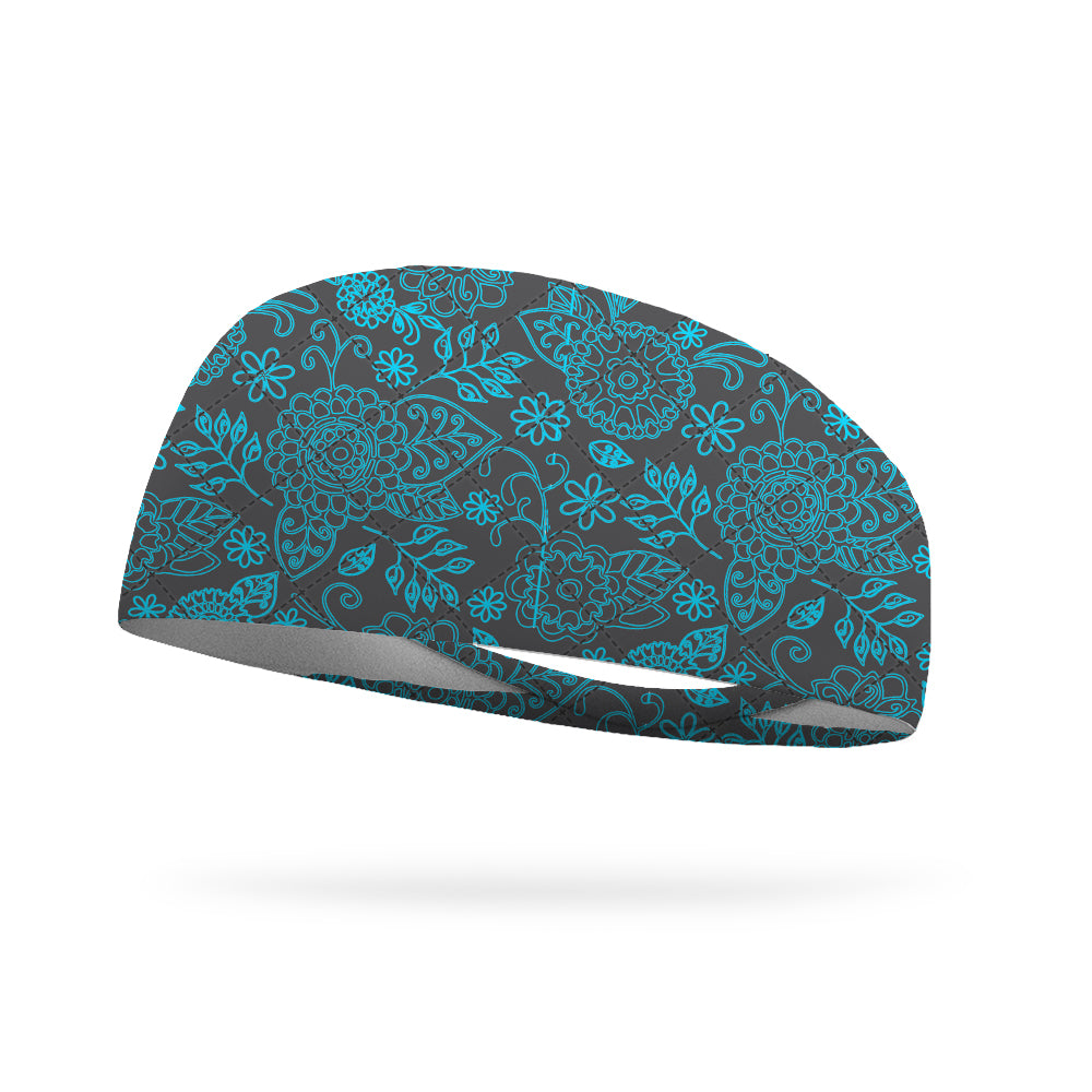 Like Vera Floral Slate Wicking Performance Headband