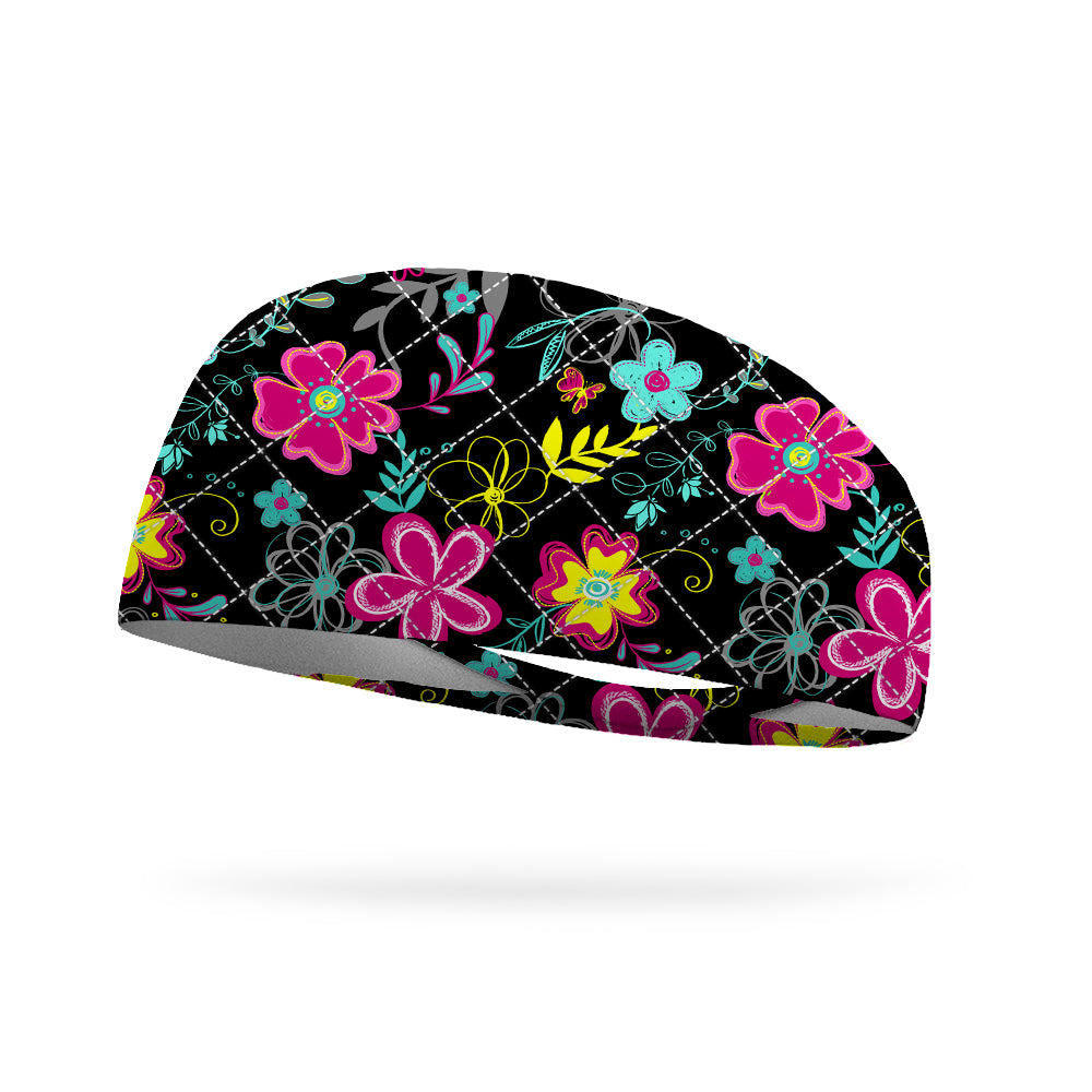 Like Vera Jazzy Blooms Wicking Performance Headband