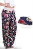 Lounge Around Blue Rose Pants and Wicking Headband Set Bondi Wear