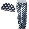 Lounge Around Polka Dot Blue and Wicking Headband Set Bondi Wear