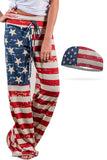 Lounge Around USA Pants and Wicking Headband Set Bondi Wear