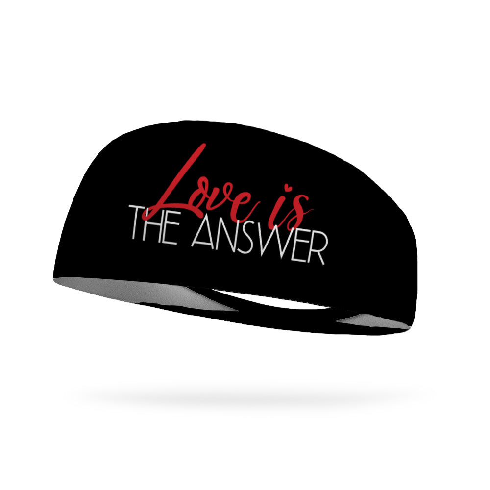 Love Is the Answer Wicking Performance Headband