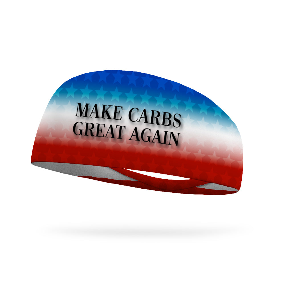 Make Carbs Great Again Wicking Performance Headband (Designed by Nikki Justice)