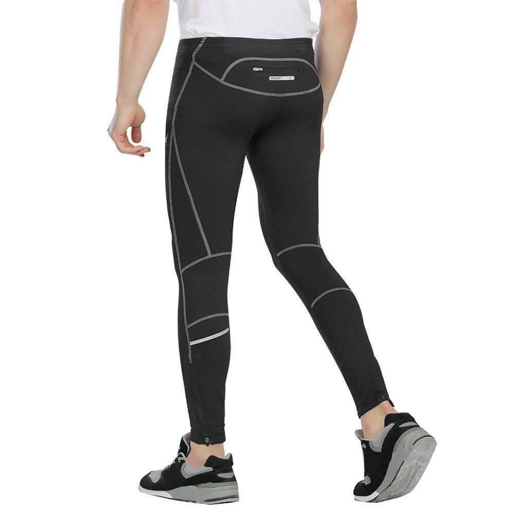 7f4da7a8497f1 Men's Thermal Reflective Running Tights with Rear Pocket Bondi Wear - Bondi  Band