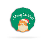 Meowy Christmas Ceramic Holiday Ornament
