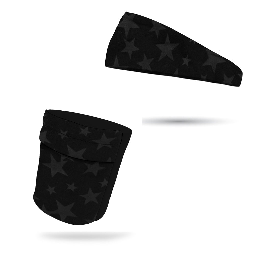 "Midnight Stars Armband 6.22"" and 4"" Fashion Headband Set"