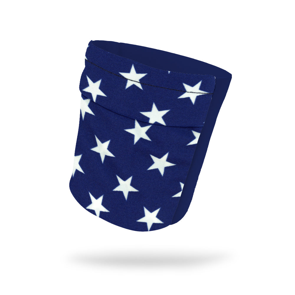 "Navy Stars and Navy Wicking Armband 6.22"" Height"