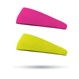 Combo 1 Solid Neon Yellow and 1 Solid Neon Pink Wicking Performance Headbands