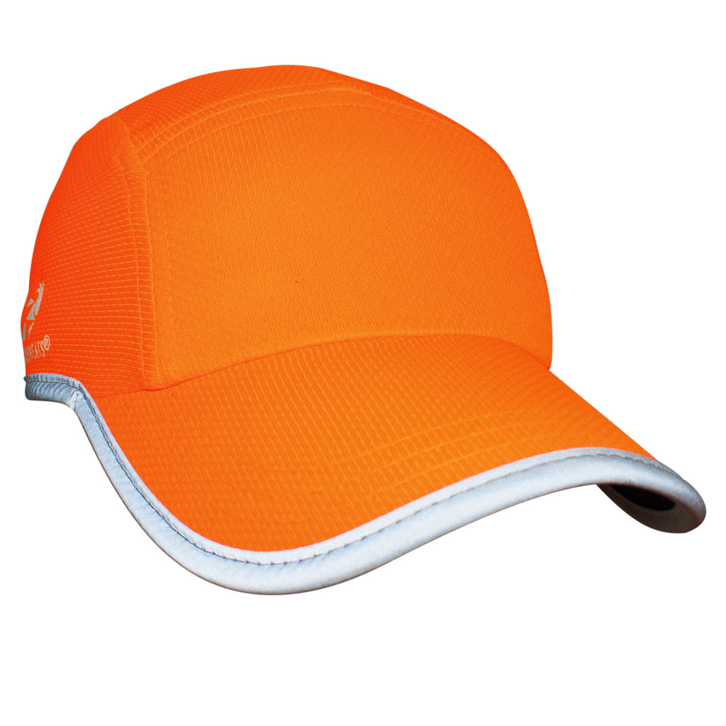 Neon Orange Reflective Race Hat