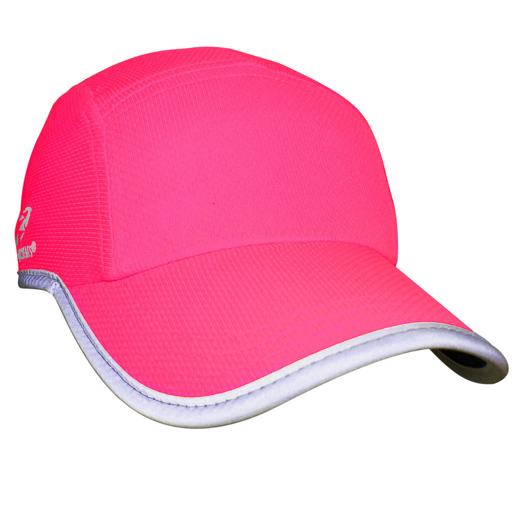 Neon Pink Reflective Race Hat