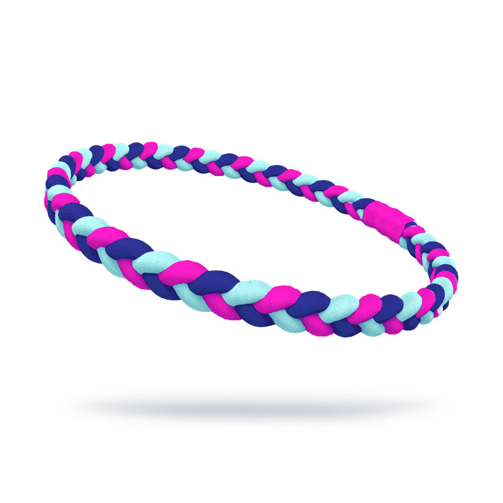 Neon Pink, Royal and Mint Single Braided Skinnyband