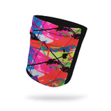 Neon Splatter and Black Wicking Armband 6.22
