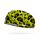 Neon Skulls Performance Wicking Headband