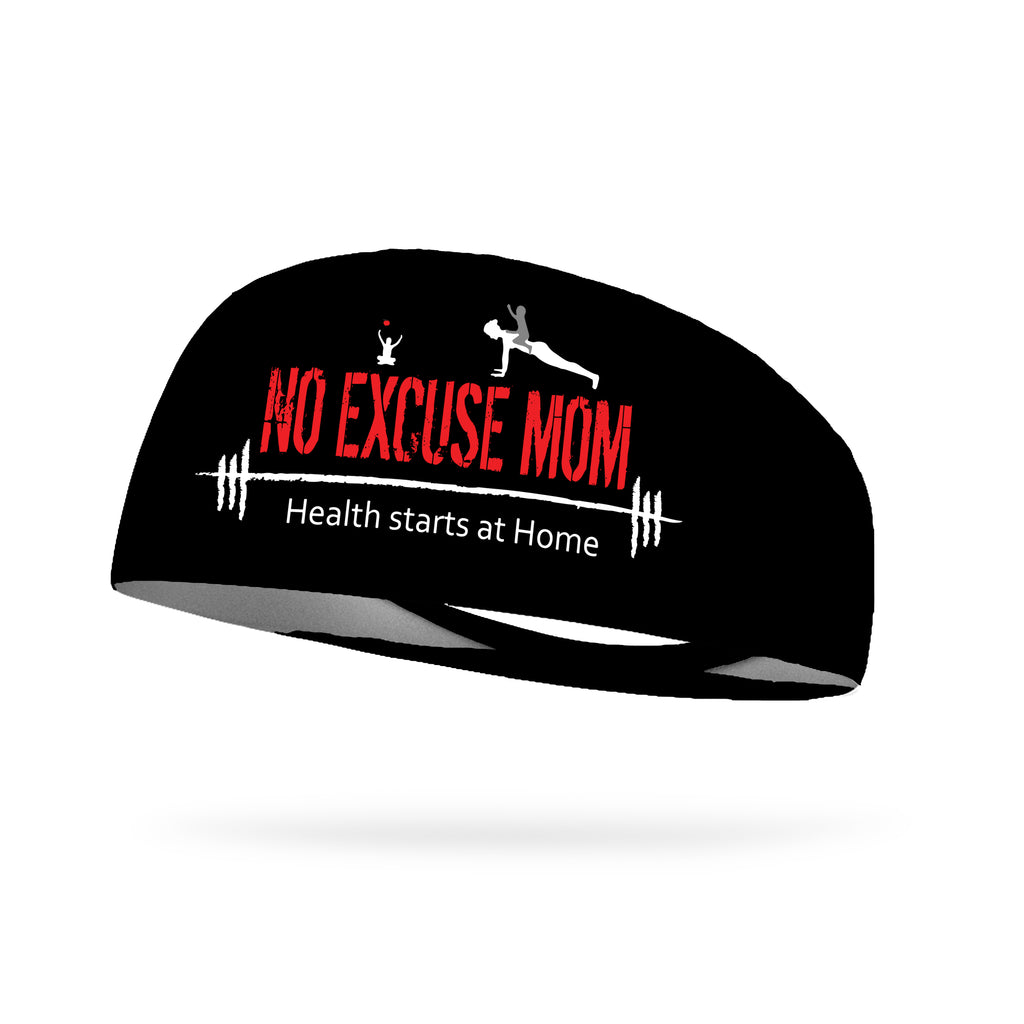 No Excuse Mom Wicking Performance Headband (Designed by Vilmaris Conigiliaro)