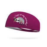 Nope No Way Sloth Wicking Performance Headband
