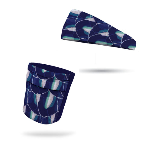 Fashion Camo Blue Headband