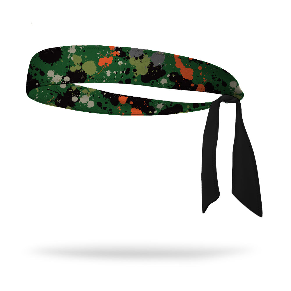 Paintball Wicking Tie Back Headband