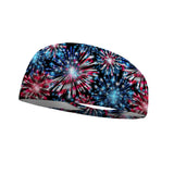 Patriotic Fireworks Performance Wicking Headband