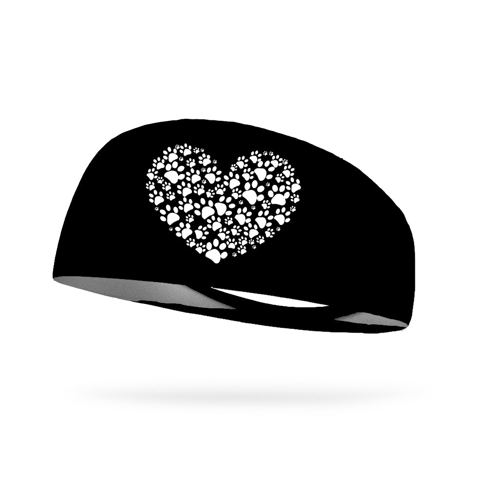 Paw Heart Wicking Performance Headband