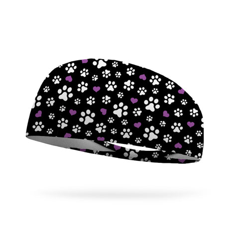 Purple Spring Wicking Performance Headband