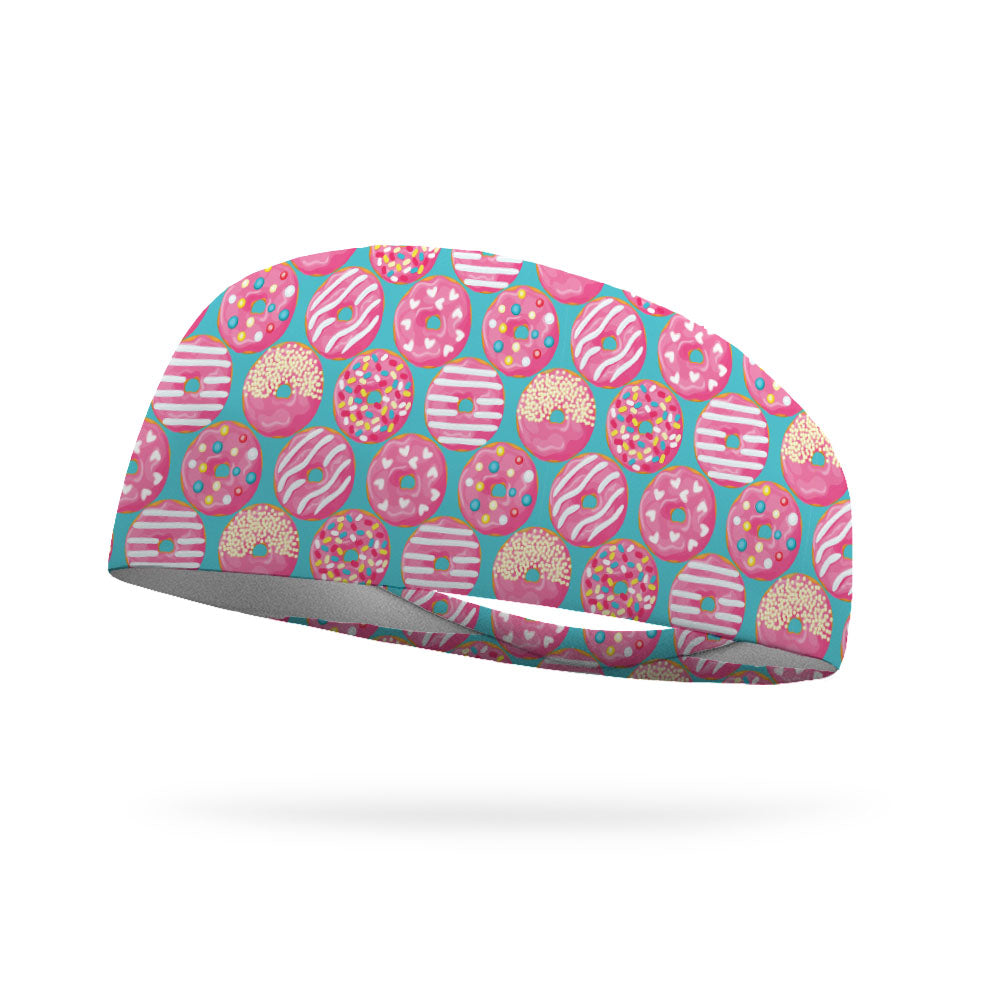 Pink Frosted Donuts Wicking Performance Headband