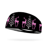 Pink Holiday Wicking Performance Headband