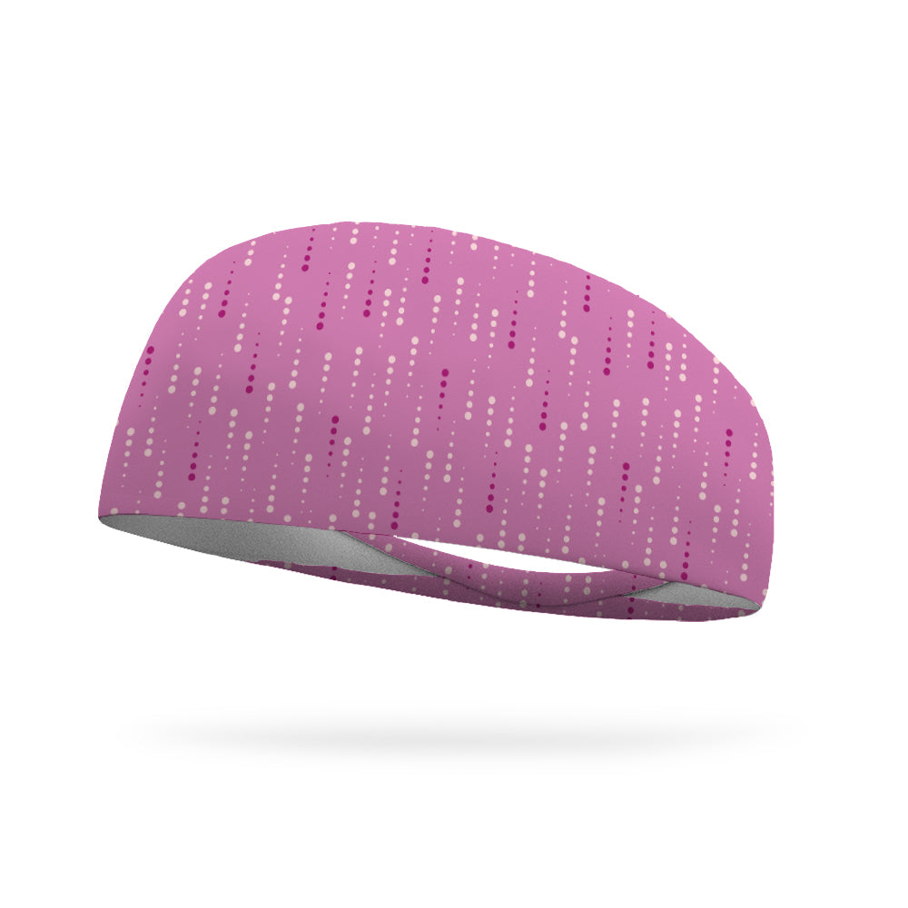 Pink Matrix Wicking Performance Headband
