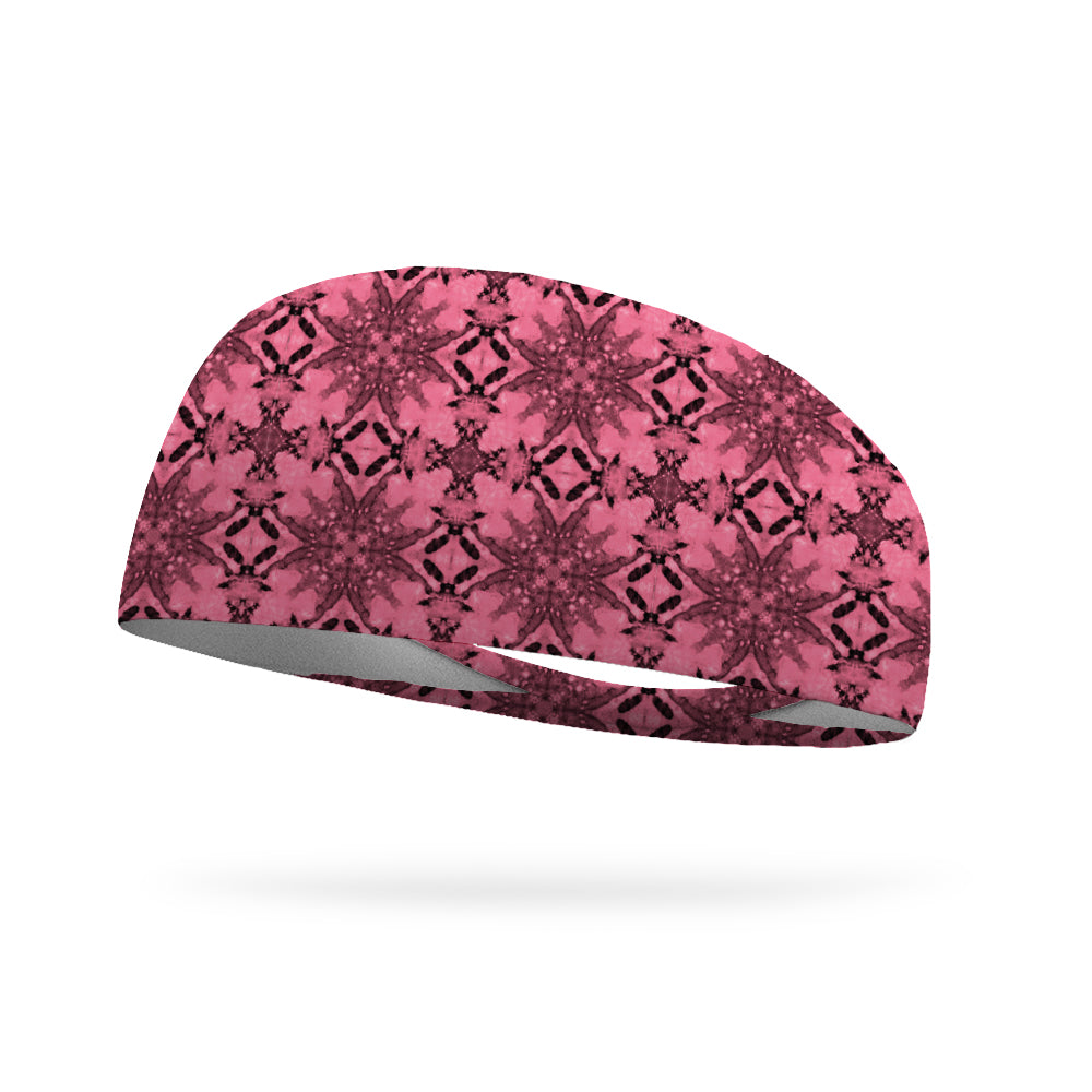 Pink Tapestry Wicking Performance Headband