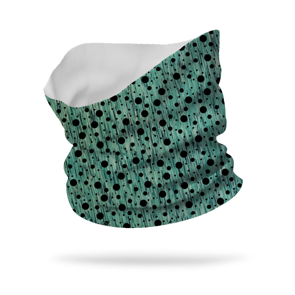 "Polka Dot Overlay Neck Gaiter 12"" Length"