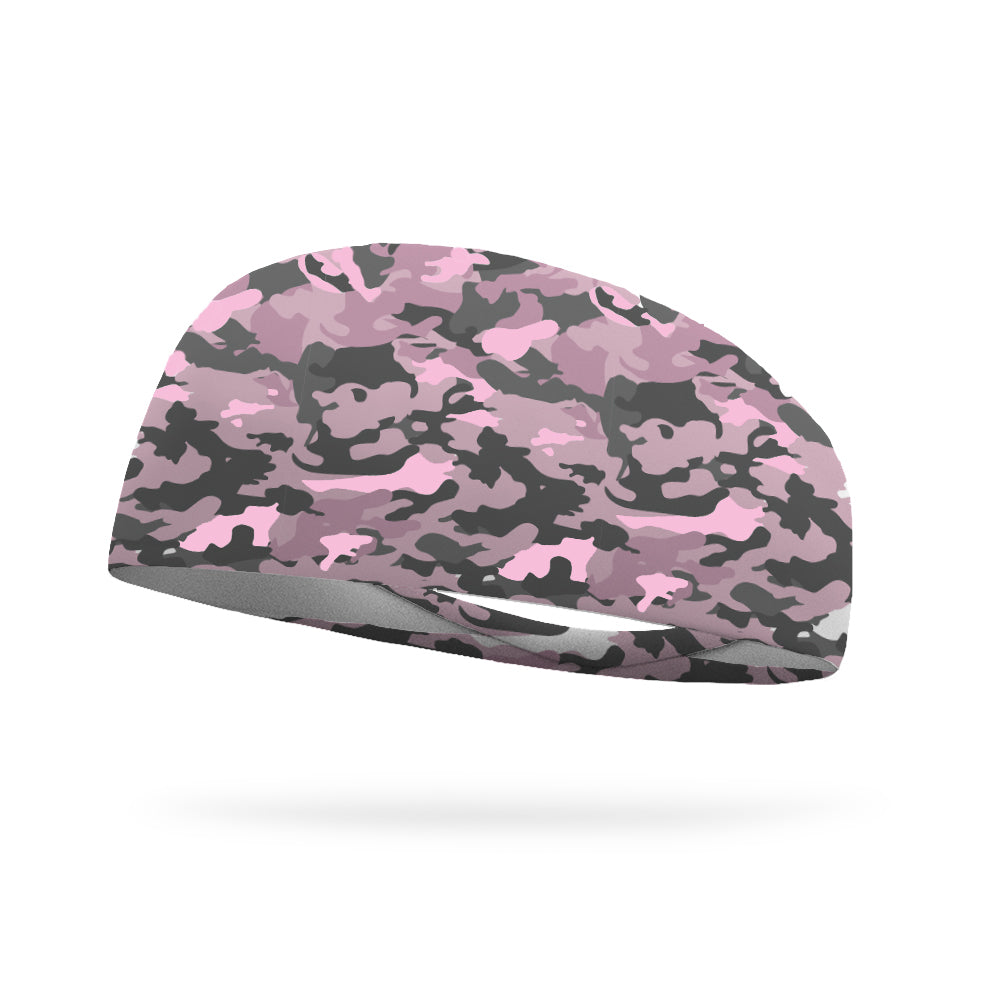 Pretty in Pink Camo Performance Wicking Headband