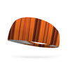 Pumpkin Stripes Wicking Performance Headband