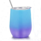 Purple Blue Ombre 18 oz. Stemless Wine Tumbler