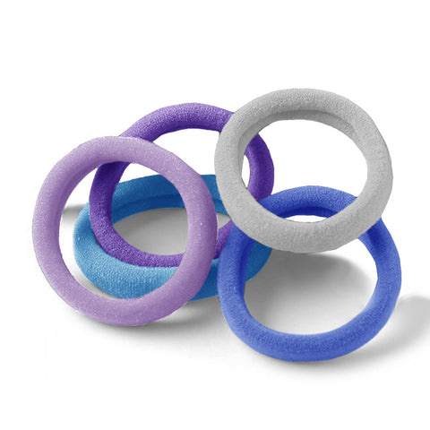 Team Purple Jersey Pack of 5 Hair Ties