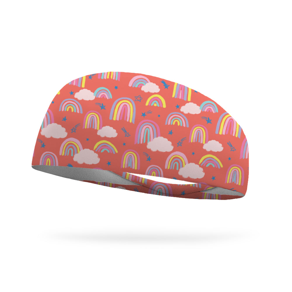 AlyFitMom Collection Rainbow Jumps Wicking Performance Headband