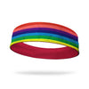 Rainbow Stripe Fashion and Red Wicking Reversible Headband