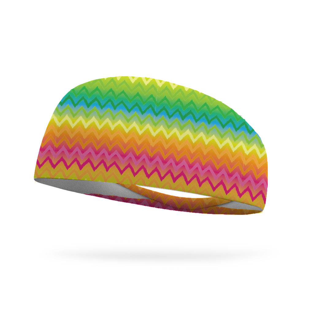 Rainbow Chevron Performance Wicking Headband