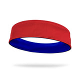 Red and Royal Blue Wicking Reversible Headband