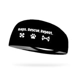 Reps Rescue Repeat Wicking Performance Headband (Designed by Leslie Cooksey)
