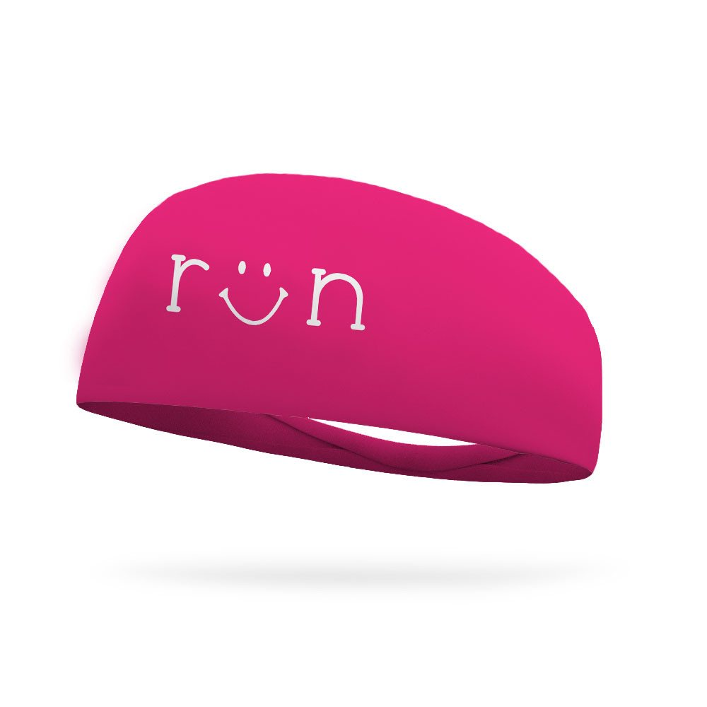 Run Smiley Wicking Headband