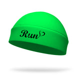 StyleRunnerPHD Collection, Run Heart Wicking Ponytail Hat - Black Logo