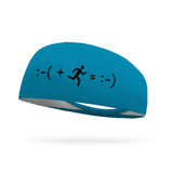 Running Makes Me Happy Text Performance Wicking Headband