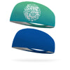Combo 1 Save and Love your Planet, 1 Solid Royal Blue Wicking Headband