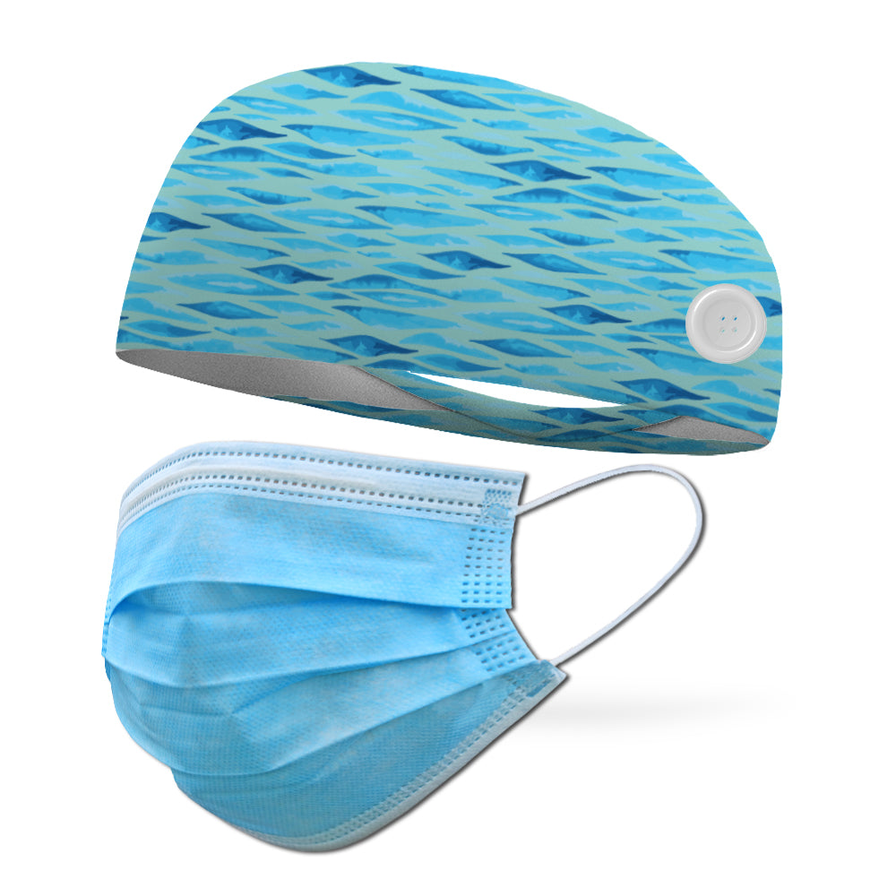 AlyFitMom Collection Sea Scales Wicking Performance Headband