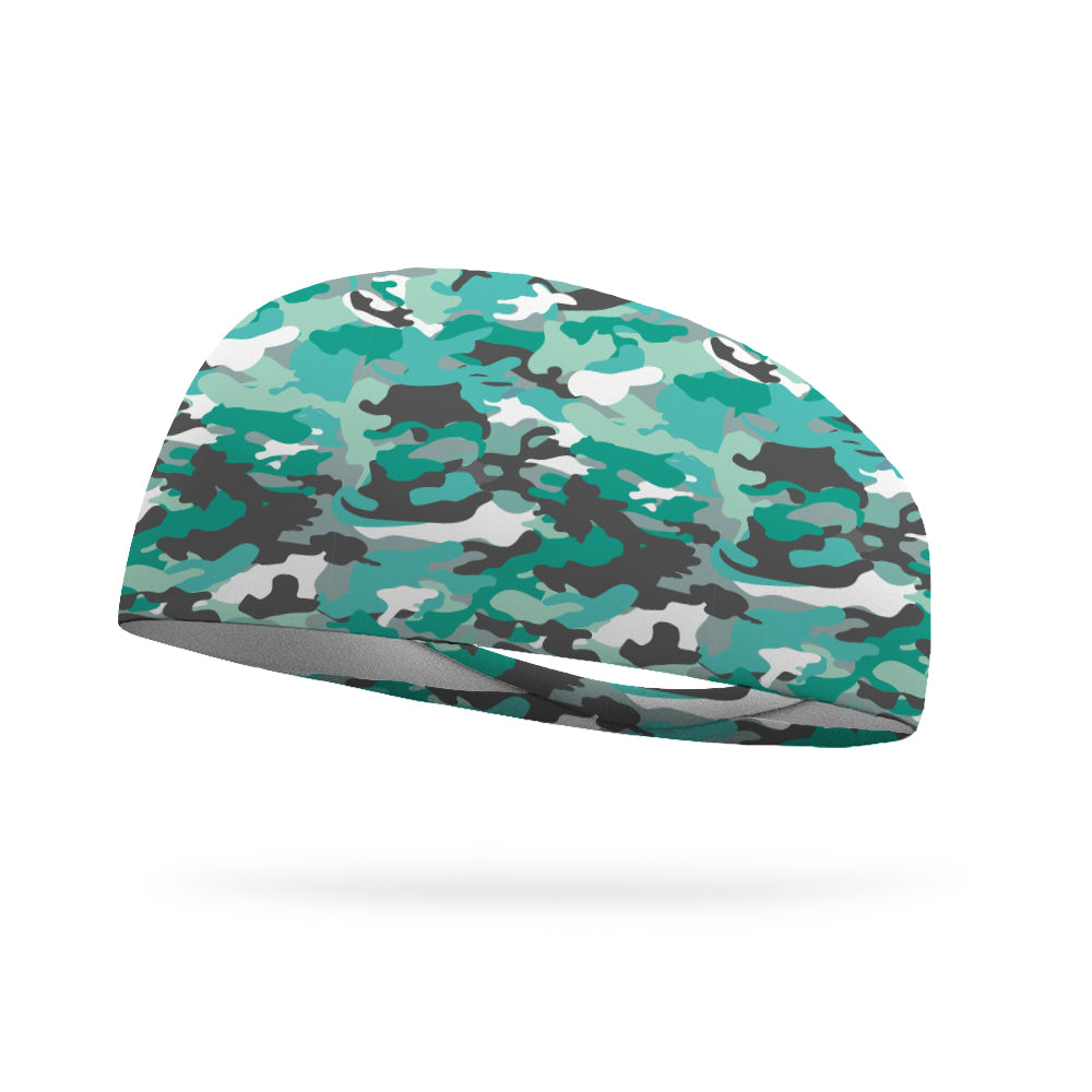 Sea Glass Camo Performance Wicking Headband