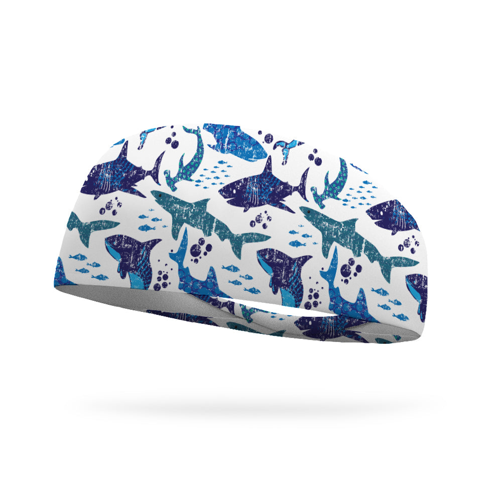 Shark Week Performance Wicking Headband