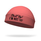 Shut Up I'm Not Almost There Wicking Ponytail Hat - Black Logo