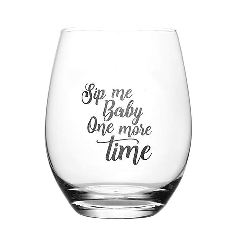 I've Had It Up to Here 15 oz. Stemless Wine Glass