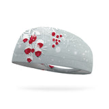 Snow Covered Berries Wicking Performance Headband