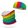 Combo Somewhere Over the Rainbow Neck Gaiter and 4 inch Headband Wicking Set