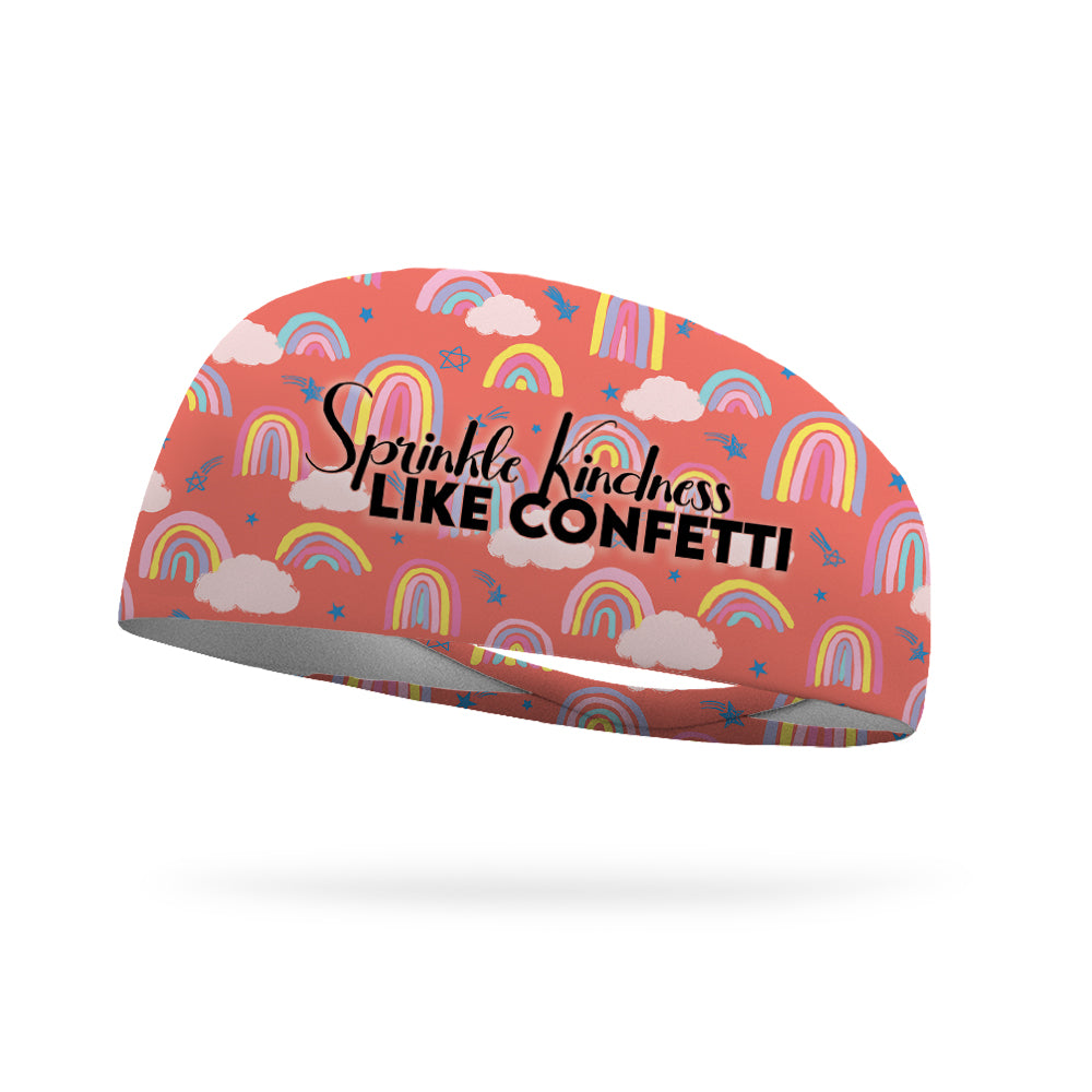 AlyFitMom Collection Sprinkle Kindness Like Confetti Wicking Headband